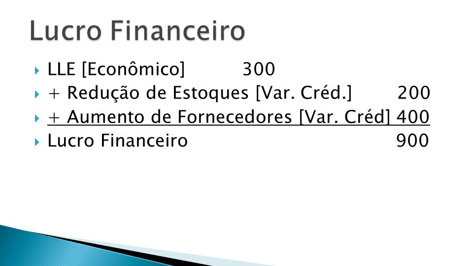 Lucro Financeiro LLE [Econômico] 300